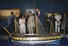 "Felipe, Wert and Letizia visit the exhibition "" El ultimo viaje de la fragata Mercedes"" at the Archaeological Museum in Madrid"