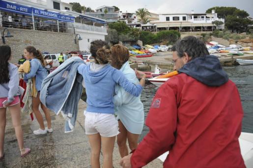 Algunas de las personas rescatadas.