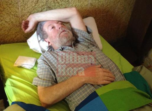 Jaume Sastre, en su último día de huelga, iniciada el pasado 8 de mayo.