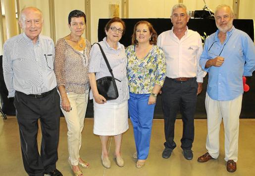 Alfonso Ballesteros, Carmen Serra, María Camps, Carmen Dameto, Paco Arenas y Gabriel Carrasco.
