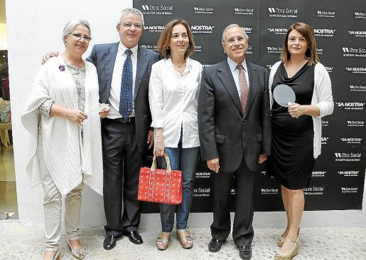Lola Muntaner, Llorenç Julià, Marisa Munar, Fernando Alzamora y Lucía Martín.