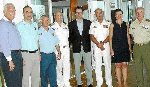 Damià Vich, Antonio Deudero, Manuel Fernández-Roca, Roberto Ortiz, Jaime Juan, Jaime Rodríguez-Toubes, Margalida Durán y Casimiro Sanjuán.