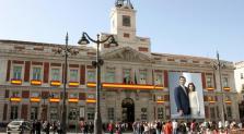 Foto de Felipe y Letizia en la Real Casa de Correos de Madrid.