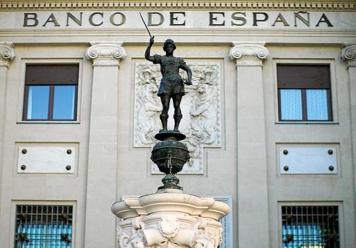 MADRID - FACHADA DEL BANCO DE ESPAÑA .