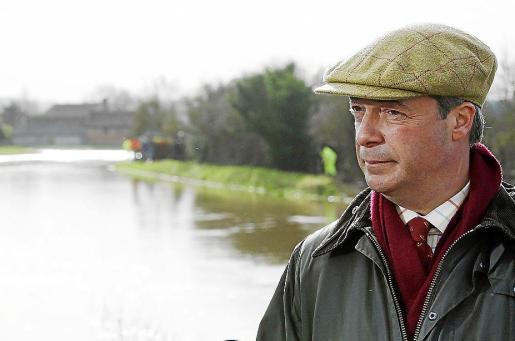 El líder del partido ultraderechista británico UKIP, Nigel Farage.