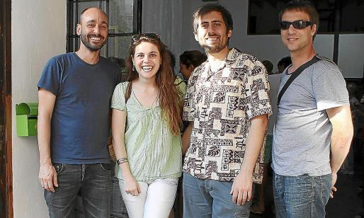 Celestí Oliver, Joana Pol, Pere Bestard y Carles Sánchez.