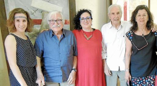 Bàrbara Maria Ferrer, Serafín Guiscafré, Maria Genovard, Josep Brú y Ariane Pandelis.