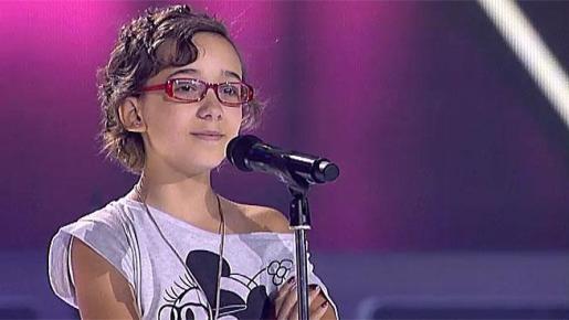 Iraila La Torre, durante su participación en 'La Voz Kids'.