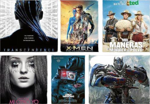 Carteles de algunas de las películas que se estrenan este verano.
