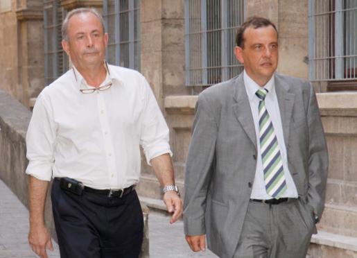 José Castro y Pedro Horrach, cuando todavía no habían llegado las desavenencias entre ellos.