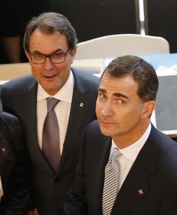 Artur Mas y Felipe VI fueron fotografiados juntos este jueves en Girona.