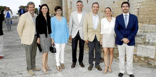 Juan Salas, Paula Serra, Concha Jarnes, Juan Carlos Rosselló, Rafael Crespí, Joana Maria Canals y Xavi Bonet.