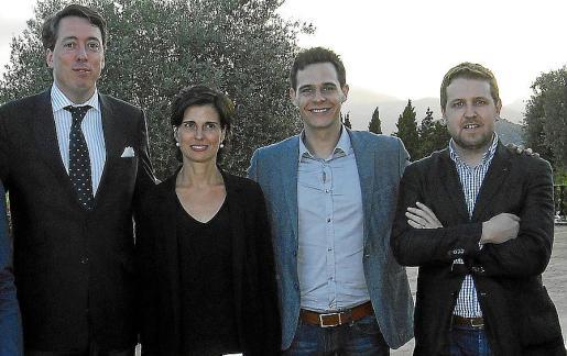 Carlos Andreu, Mercè Faixes, Christian Gálvez y Gonzalo Abadía.