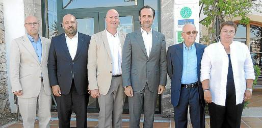 Alberto Pons, Jaime Martínez, Bartomeu Bestard, José Ramón Bauzá, Joan Domingo y Coloma Terrassa.