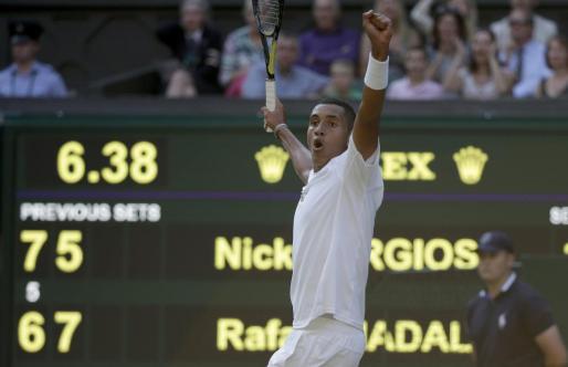 El asutraliano Nick Kyrgios ha superado a Rafa Nadal en los octavos de final de Wimbledon.