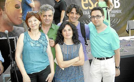 Aina Salom, Pere Fullana, Maite Villar, Biel Jordà y Martí Fons.