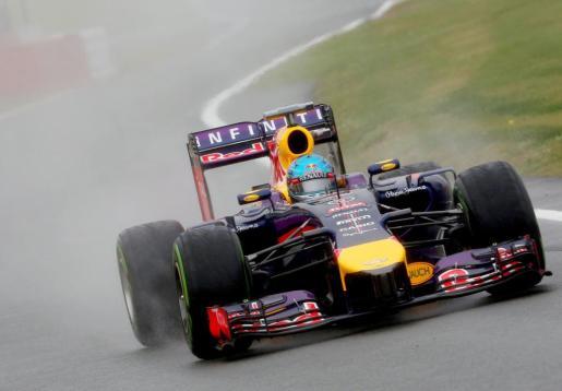 Sebastian Vettel durante la tercera sesión de entrenamientos.