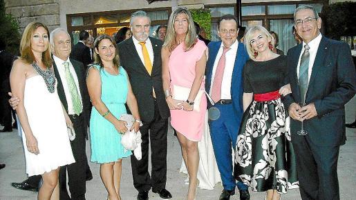 Magdalena Pol, José Guerrero, Mercedes Torres, Carlos Valencia, Carmen Tudela, Pedro Horrach, Ana Zacher y Piro Oreste.