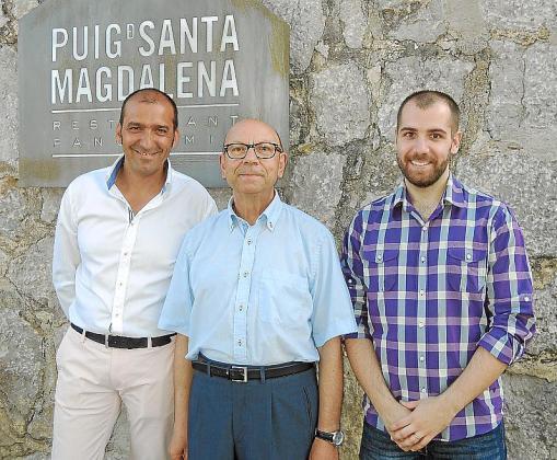 Pere Mas, Simó Garau y Victor Gómez.