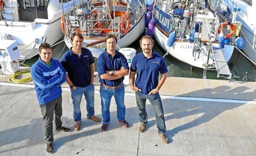 De izquierda a derecha, los cuatro impulsores de Nautal: Eduardo Llovet, Roger Llovet, Octavi Uyá y Eduardo Robsy.