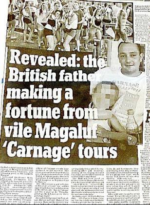 El periódico 'Daily Mail' dedicó ayer un amplio reportaje a la empresa Carnage.