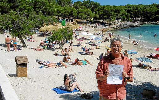 Pep Mesquida registró la denuncia en el Ajuntament de Felanitx el pasado viernes.