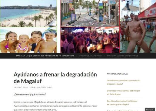 La agrupación de vecinos de Magaluf ha iniciado una recogida de firmas para luchar contra las prácticas incívicas de los turistas y algunos empresarios de la zona.