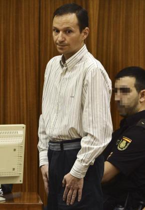 Imagen de José Bretón en la sala de vistas donde fue juzgado.