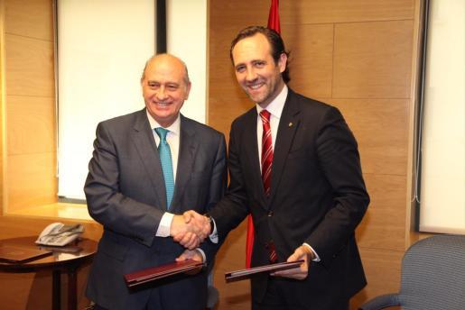 José Ramón Bauzá y Jorge Fernández, en una imagen tomada esta mañana.