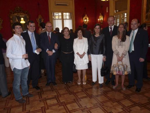 Luis y José Clar, Sebastià Serra, Delia Barceló, Aina Rado, Delia Clar, Ramon Socías, Marta Dezcallar y Luis Clar.