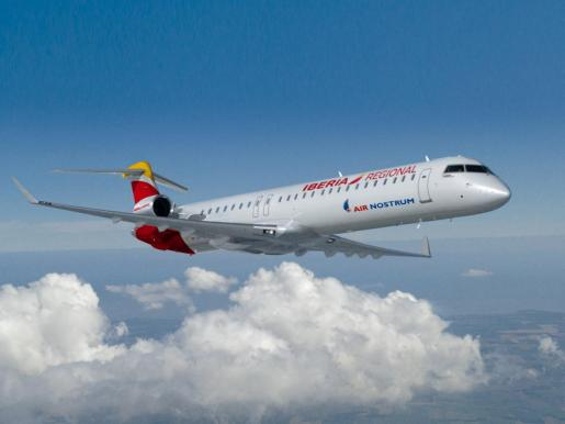 Imagen de archivo de un avión de Air Nostrum, compañía franquiciada por Iberia.