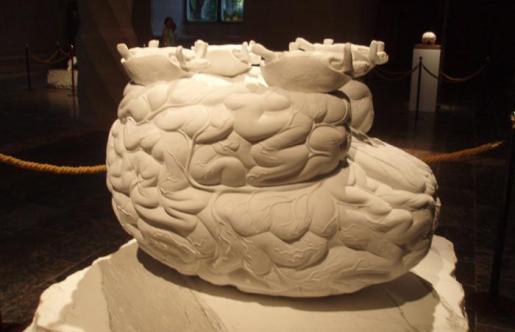 Una de las piezas de 'Zeno Brains and Oracle Stones', de Jan Fabre