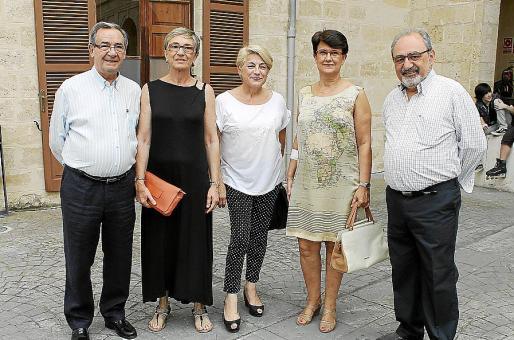Toni Vidal, Esperança Fiol, Maria Mascaró, Bel Galmés y Virgilio Izquierdo.