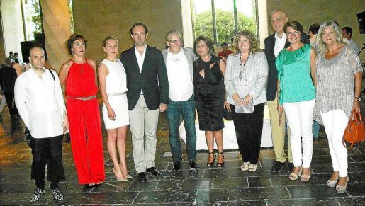 Javier Pérez, Neus Cortés, Joke, José Ramón Bauzá, Jan Fabre, Catalina Vidal, Joana María Camps, Guillermo Estarellas, Margalida Durán y Bel Oliver.