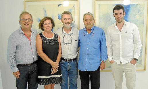 Toni Torres, Maria Magdalena Marimón, Joan Costa, Biel Perelló y Biel Perelló (hijo).