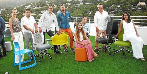 Laura Dávila, Rafael Maldonado, Paco Marí, Toni Juan, David García, Carolina Romero, Jesús Romero y Silvina Rullán.