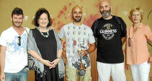 Jordi Pallarés, Pilar Ribal, Marc Peris, Lluís Mas y María José Massot.