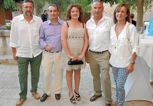 Tomeu Puig, Joan Sánchez, Aina Ferrer, Alfonso Pampín y Antònia Lladó.