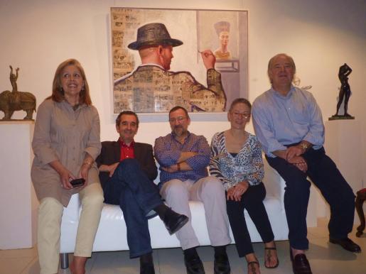 Juana María Ferrer, Pep Suari, Josep Gomis, Gloria Saiz y Gabriel Morell.
