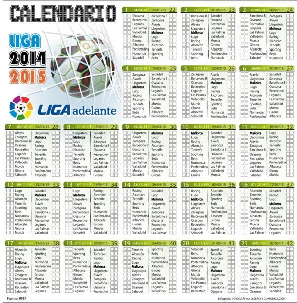 Liga Calendario.Fotogaleria Calendario Liga Adelante