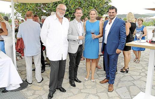 Friedich Panizza, Robert Prenkenhofer, Anette Andersen y Carlos Anglada.