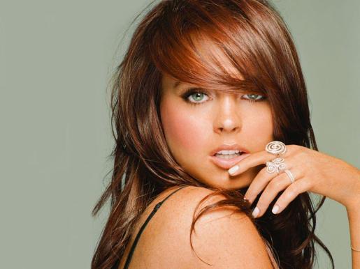 Lindsay Lohan, actriz de cine.