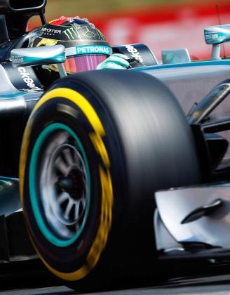 El alemán Nico Rosberg, durante la sesión de clasificación del Gran Premio de Hungría.