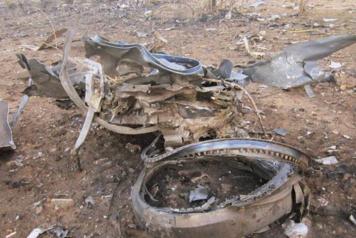 Restos del Air Algerie siniestrado en Mali.