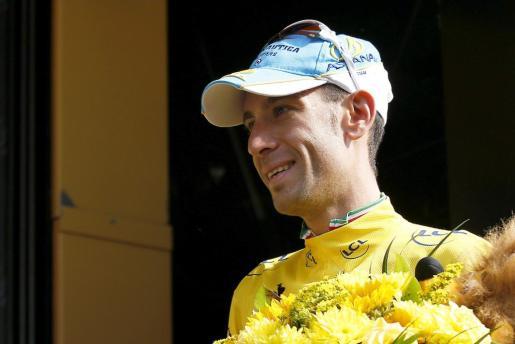 Vincenzo Nibali, en el podio.