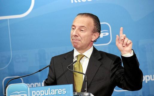 Delgado, en una comparecencia el año pasado sobre los contratos de Radio Calvià.