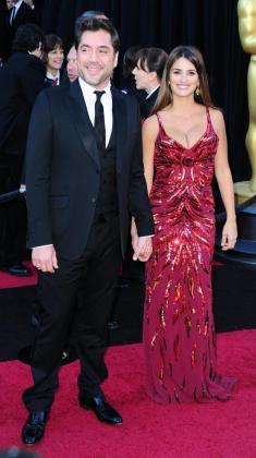 La pareja en la ceremonia de los Óscar de hace unos años.