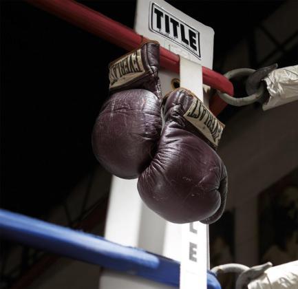 Los guantes con los que Muhammad Ali se enfrentó a Joe Frazier por el título mundial en 1971.