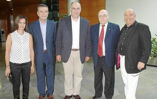 Juana Lozano, Juan Batle, Pep Egea, Miquel Alenyar y Manel Barceló.