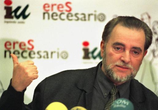 El ex coordinador general de Izquierda Unida, Julio Anguita.